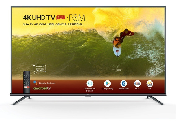 Smart Tv 4k Tcl 65 Tcl65p8m Wi-fi Bluetooth