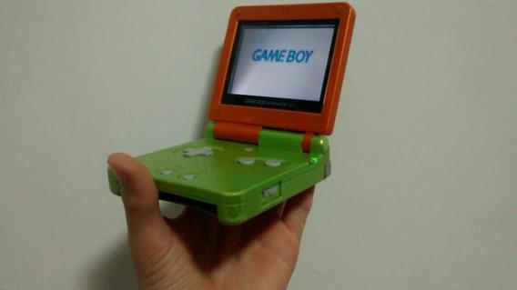 Gameboy Advance Sp+6 Jogos+carregador