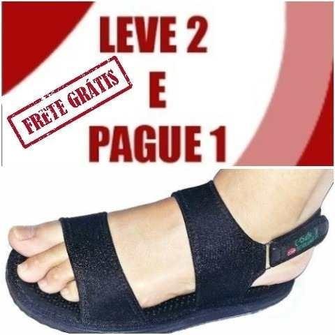Sandália Magnética Palmilha Massageador Circulação Sangüinea
