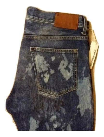 H&m Jeans Acid Wash Para Caballero 33x32. Seven.
