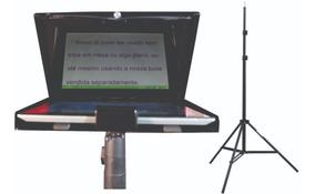 Teleprompter Portátil C/ Tripe Serve Tablete, iPad, Celular