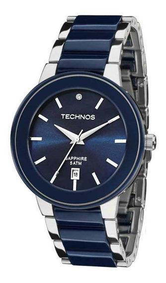 Relógio Technos Feminino Ref: 2115krt/1a - Vidro Safira