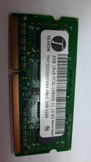 Memoria 2gb Ddr3 Teikon Ntb 1rx8 Pc3l-12800s-11-10-b3