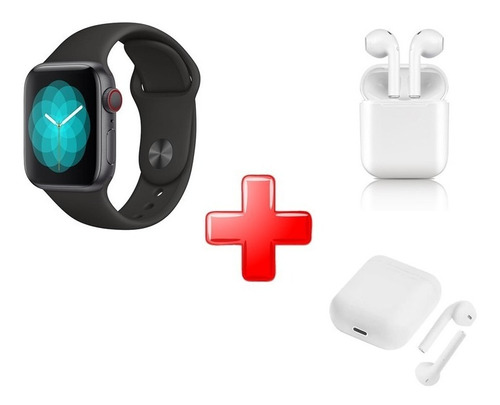 Imagen 1 de 1 de Kit Smartwatch Ft 60 + Audifonos Bluetooth Inpods 12
