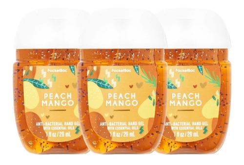 Gel Antibacterial Bath & Body Works Peach Mango Kit 3pz