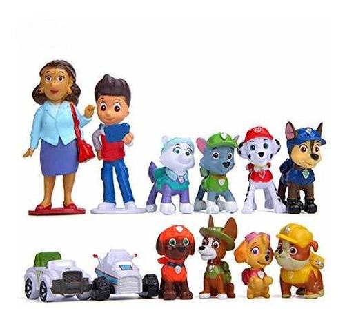 Adornos Para Torta 12 Pzs Paw Patrol Serie Niños Multicolor