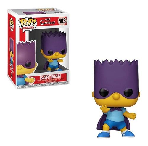 Muñeco Funko Pop Los Simpsons Bart-bartman 503 Original
