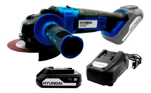 Amoladora Angular A Bateria Hyundai 115mm 20v Inalambrica
