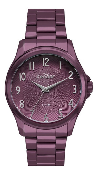 Relógio Condor Feminino O Poder Da Cor Roxo Co2036muh/4l