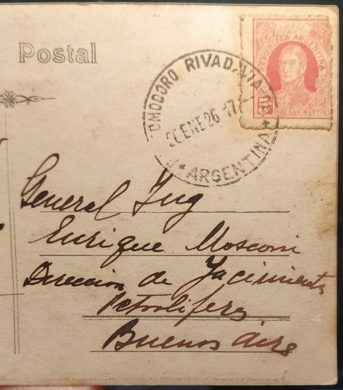 Gral Mosconi T Postal Dedicada Yacimientos Petrolíferos 1927