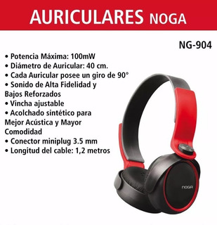 Auriculares Vincha Noga Ng-904 Bajos Reforzados Pc Celular