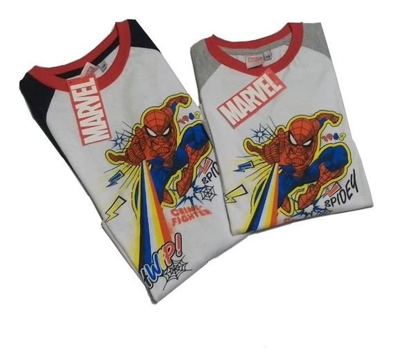 Remera Spiderman Manga Larga Nene, Original Marvel L