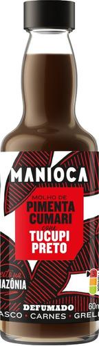 Imagem 1 de 6 de Molho De Pimenta Cumari Com Tucupi Preto De 60ml - Manioca