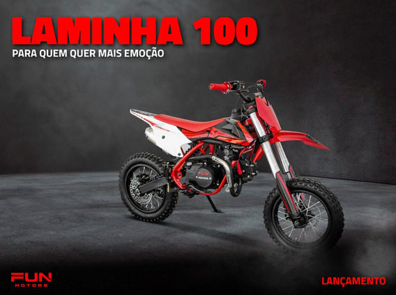 Mini Moto Cross Infantil Laminha 100 - Quadri E Cia Off Road