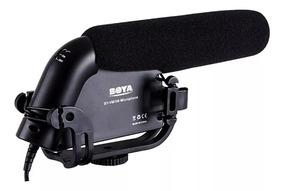 Microfone Direcional Shotgun Boya Vm190 Câmera Dslr Rode