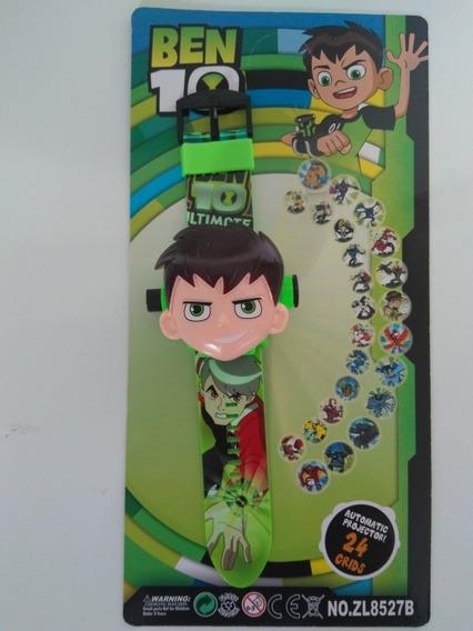 Relógio Digital Ben 10 Infantil Que Projeta Imagens+ Brinde