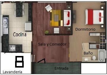 Arriendo Departamento Pequeño 1 Dormitorio Villaflora