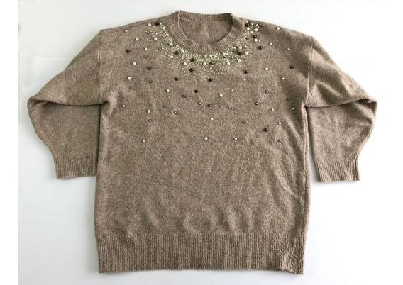 Sweater Mujer Talle L Xl Importado Bordado Abrigado!!