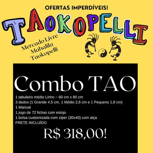Combo Tao - Tabuleiro Médio Linho+2bolsas+3dados+72fichas