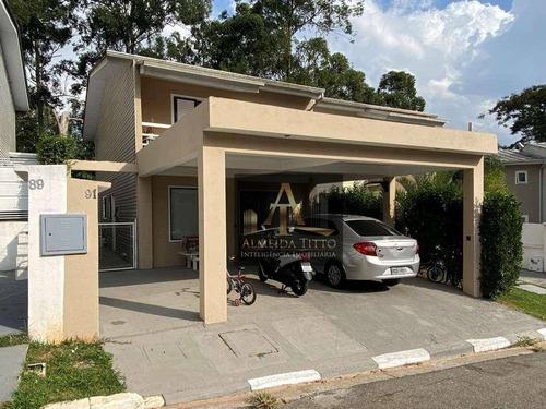 Excelente Casa À Venda No Jardim Das Paineiras, Cotia. 3 Suítes, 2 Vagas, Repleto De Armários E Eletrodomésticos! - Ca2592
