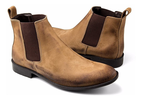 Bota Masculina Urbana Chelsea Boots Botina Country Couro Legitimo