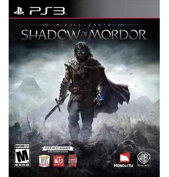 Shadow Of Mordor Inglês Ps3 Psn Original Envio Rápido
