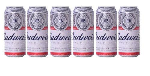 Cerveza Budweiser 473 Cc X6