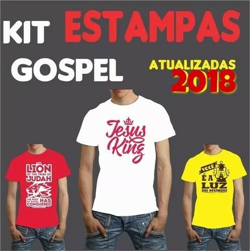 Estampas Gospel 2018 Vetores Evangélicas Envio Automático