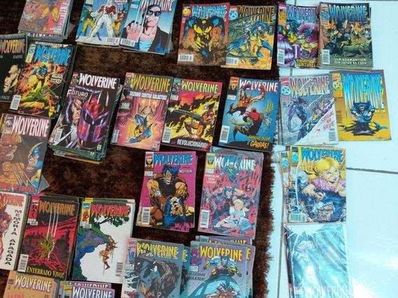 Lote Com 11 Gibis Wolverine, Ed Abril Vários Números Ótimas