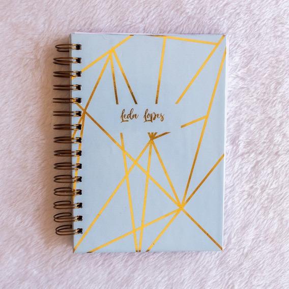 Caderno A5- Azul Dourado