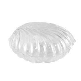 50 Mini Concha De Acrílico Transparente Lembrancinha Sereia