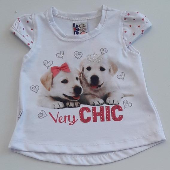 Blusa Bebê Sublimada Dois Cachorrinhos Cic Malhas