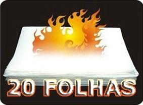 Flash Paper 20 Folhas -pápel Flash