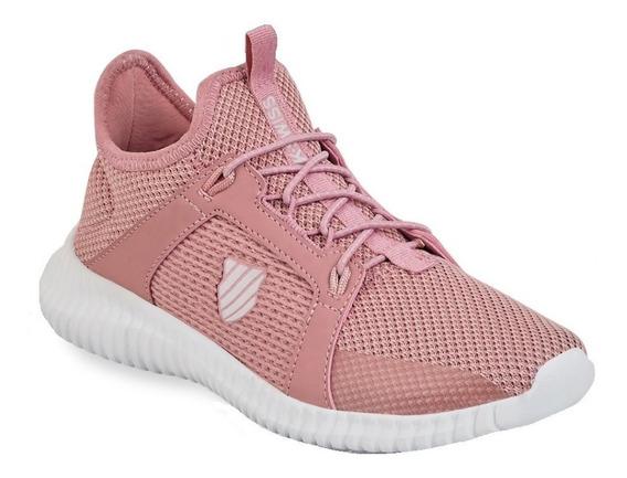 Tenis Deportivo Dama Mujer K-swiss Tela Comodo Rosa