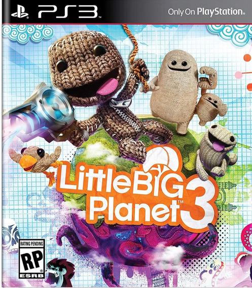Littlebigplanet 3 Dublado - Jogo Infantil - Jogos Ps3 Playstation 3