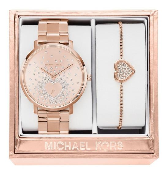 Relógio Michael Kors Mk3621 Jaryn Gold Rosé Anal Pink