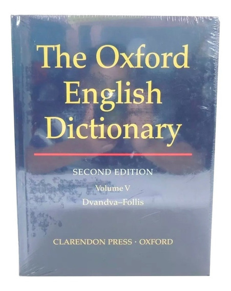 Livro The Oxford English Dictionary 2nd Vol. 5 Em Inglês