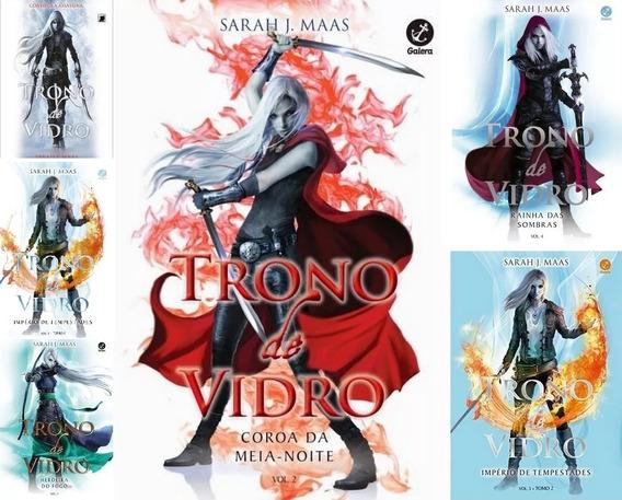Coleção Trono De Vidro - 6 Livros - Vol 1 Ao 5 - Sarah Maas