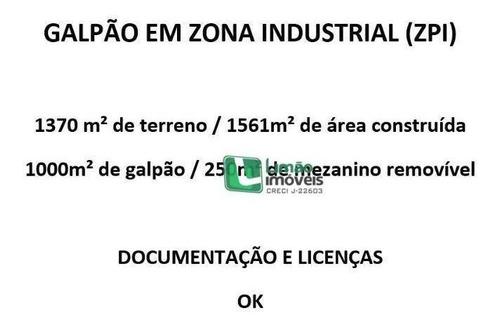 Galpão À Venda, 1561 M² Por R$ 12.000.000 - Limão - São Paulo/sp - Ga0050