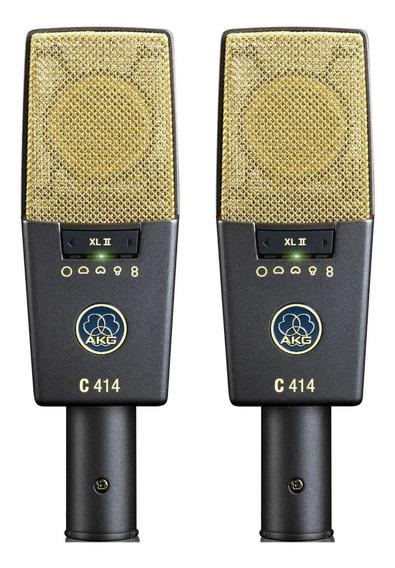 2 Microfones Akg C414 Xlii