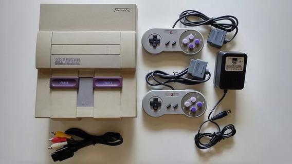 Super Nes + 2 Controles + Fonte + Cabo + Super Mario World!!