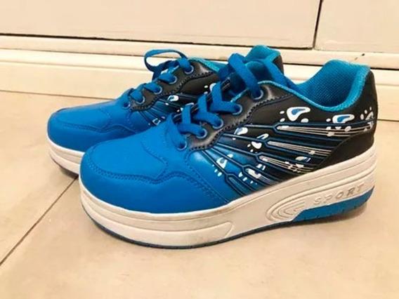 Zapatillas Con Ruedas - 1 Uso Real- Impecables!!