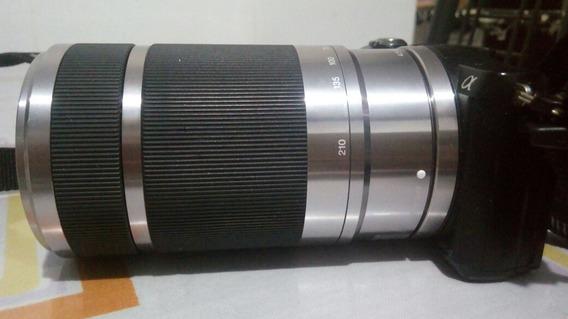 Camera Sony Alpha A5000 Com Lente 55-210mm E Bateria.