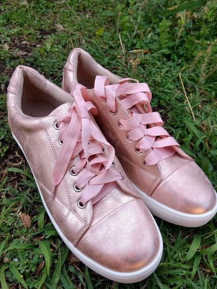 Zapatillas Rosa Via Uno