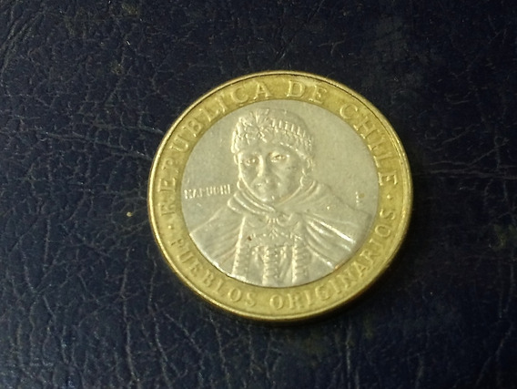 Moneda Chile 100 Pesos, 2012 Bimetálica Km# 236 Lote 3707