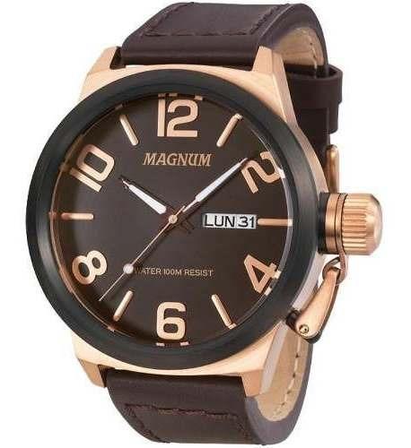 Relógio Magnum Masculino Original Rose Ma33399z Barato