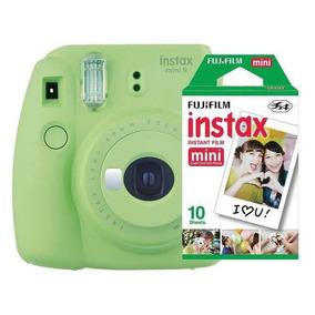 Câmera Fujifilm Instax Mini 9 Verde Lima + Pack 10 Fotos