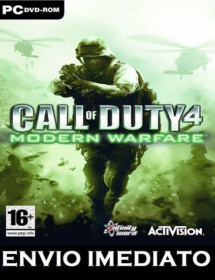 Call Of Duty 4 Modern Warfare Pc - Mídia Digital Entr. Imed.