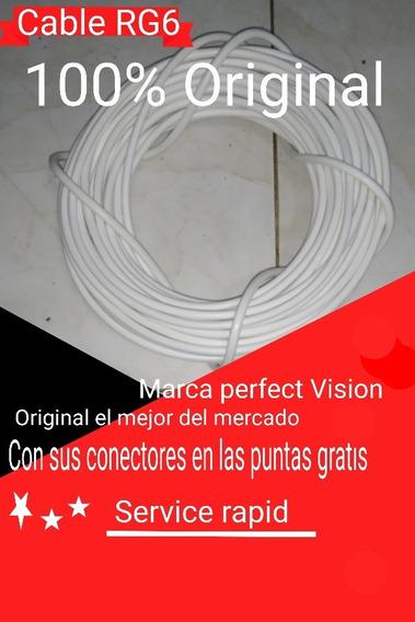 Cable Coaxial Rg6 Seis Mil Por Metro Directv Movistar Tv