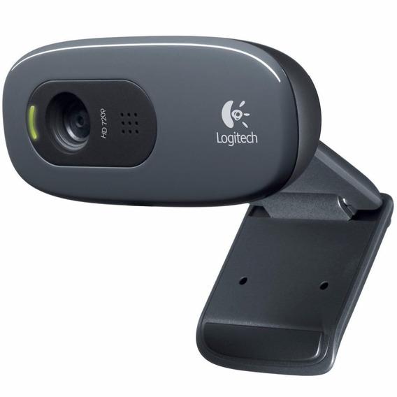 Web Cam Hd 720p Logitech C270 Usb Microfone Xp/7/8.1/10/ Mac